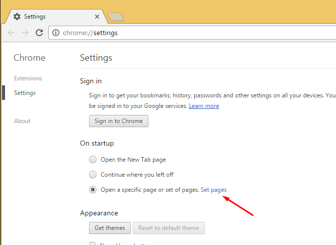 Remove Unwanted Homepage from Chrome 2