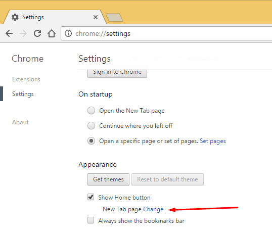 Remove Unwanted Homepage from Chrome 4