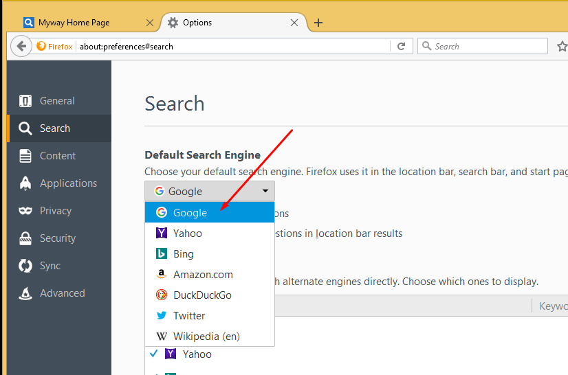 Remove Unwanted Search Engine from Firefox 2