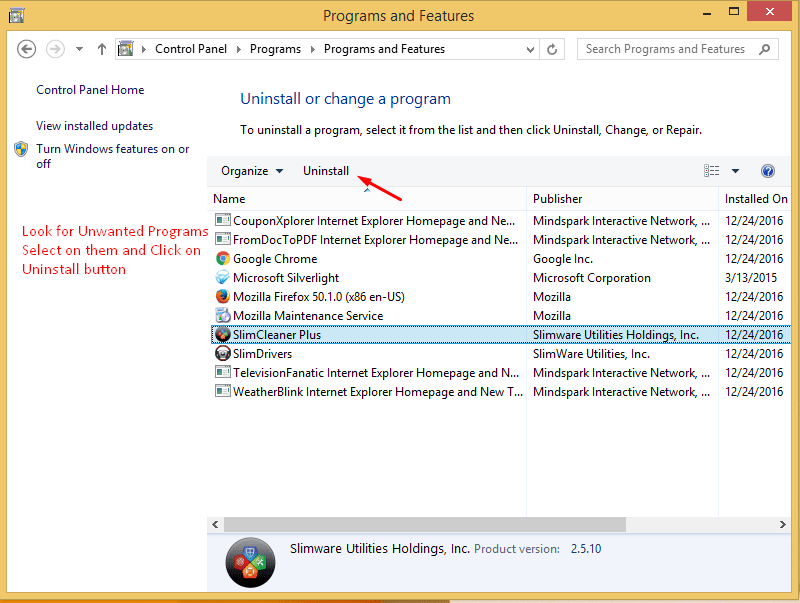 Remove Unwanted Programs from Win 8 - 3