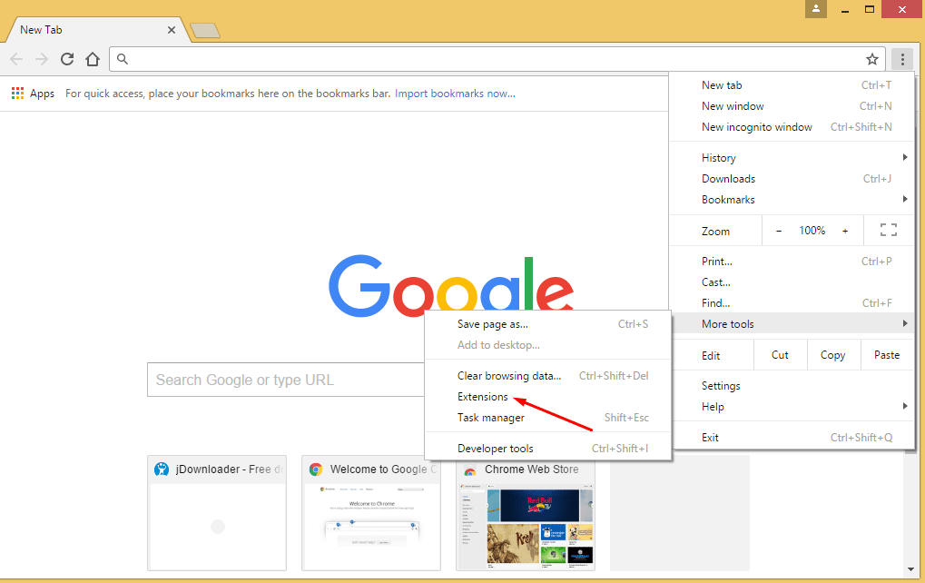 how to delete an extension in chrome