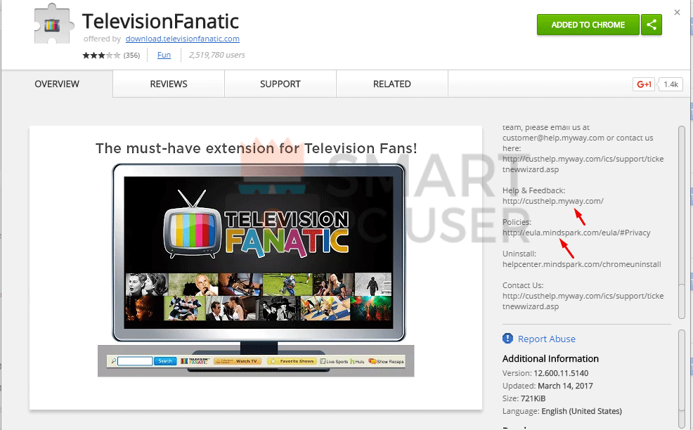 Remove TelevisionFanatic Browser Hijacker from All Browsers